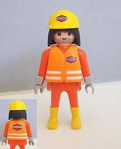 playmobil ouvrier chantier