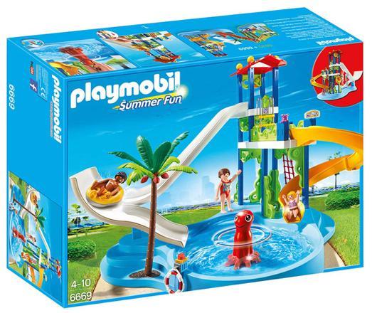 playmobil piscine toboggan