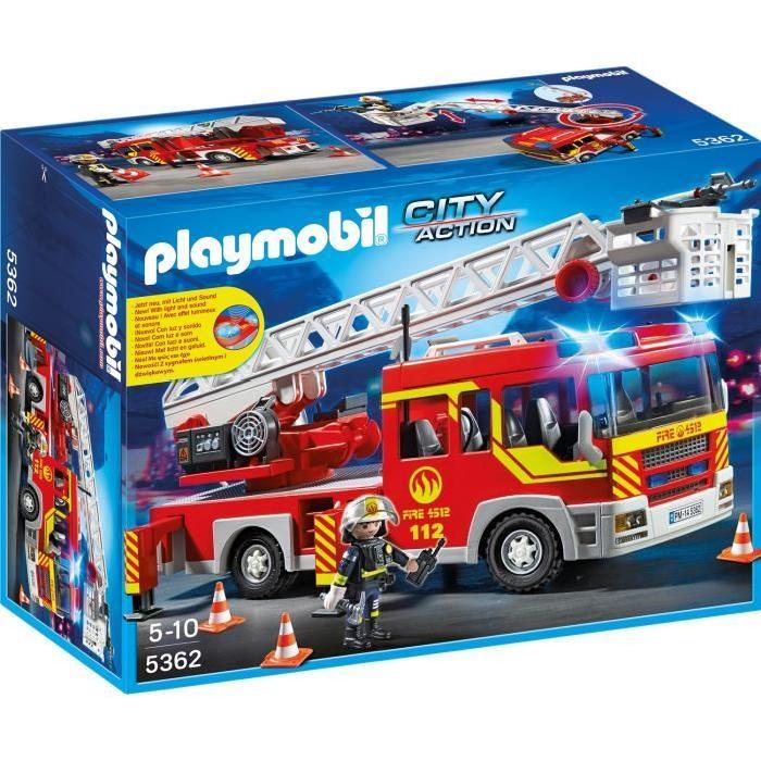 playmobil pompier camion