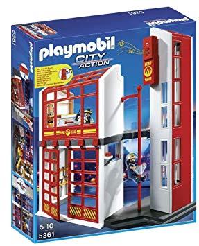 playmobil pompier caserne