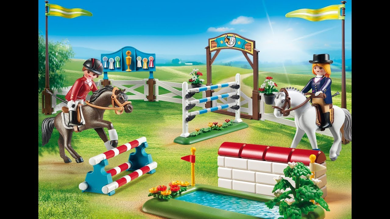 playmobil video cheval