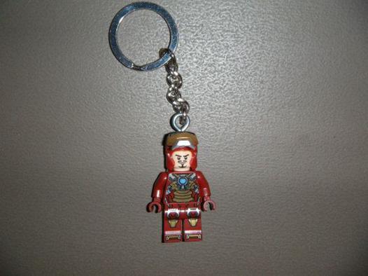 porte clé lego iron man