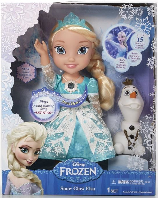 poupee reine des neiges qui chante