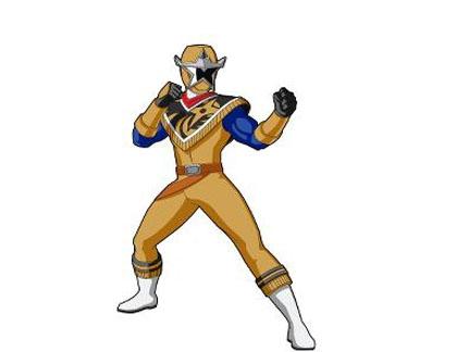 power rangers doré