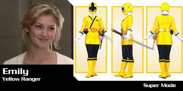 power rangers samurai jaune