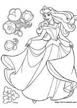 princesse aurore coloriage