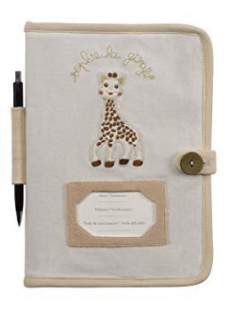 protège carnet de santé sophie la girafe