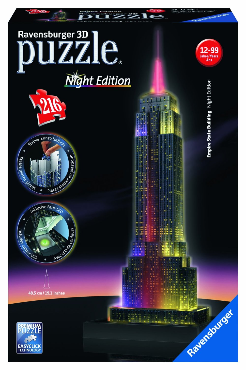 puzzle 3d lumineux ravensburger empire state building