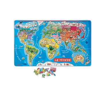 puzzle carte du monde magnetique