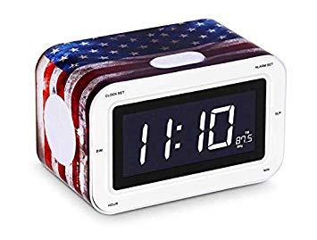 radio reveil drapeau americain