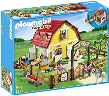 ranch avec poney playmobil