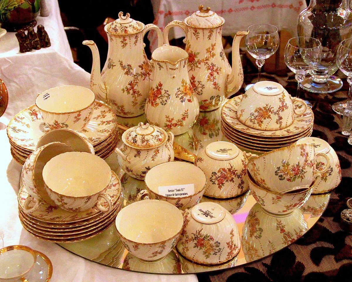 service de thé