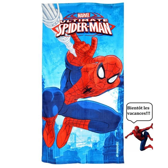 serviette de bain spiderman