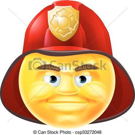 smiley pompier
