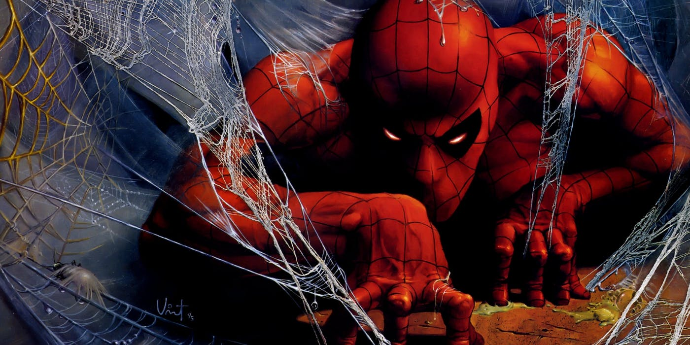 spiderman in web