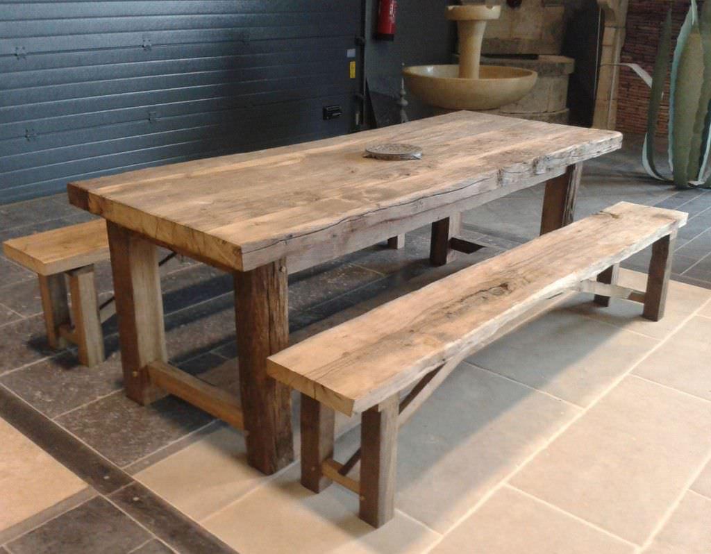 table banc en bois
