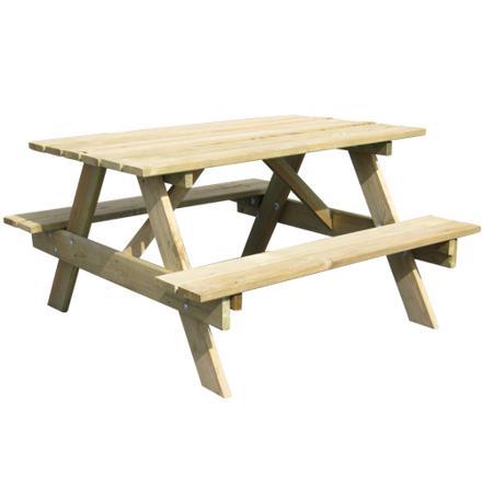 table de pique en bois