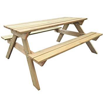 table de pique nique bois