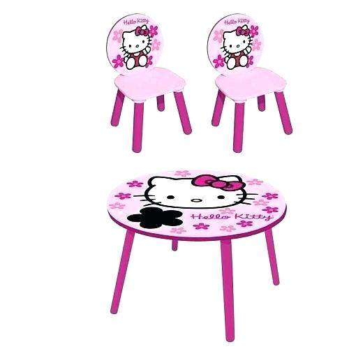 table et chaise hello kitty