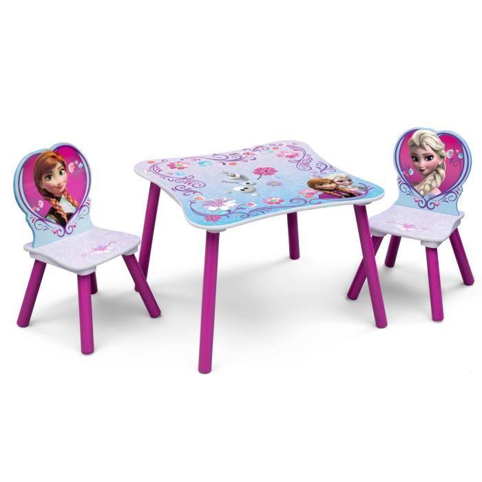 table et chaise reine des neiges