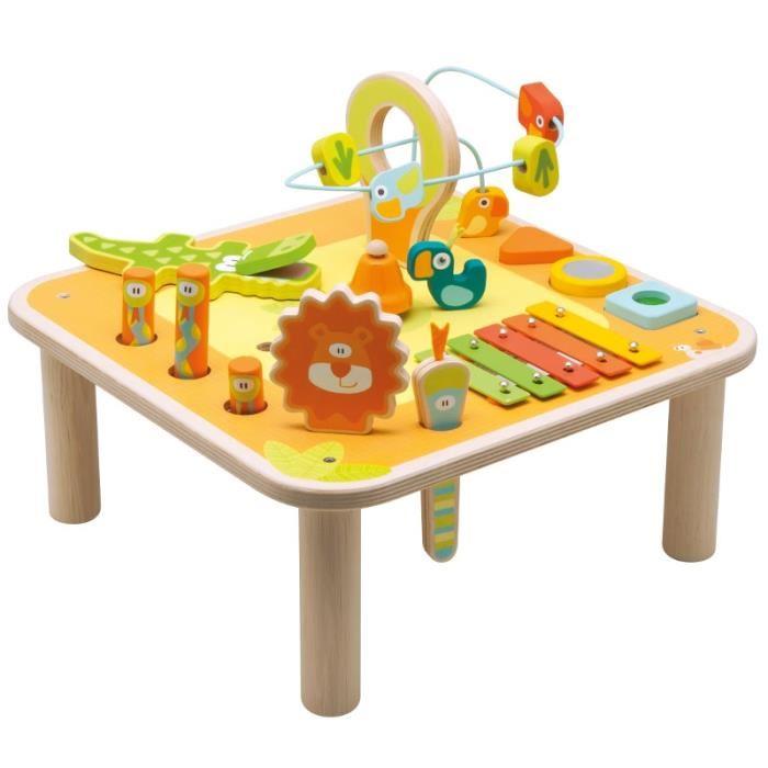 table eveil bois