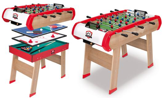 table multi jeux smoby
