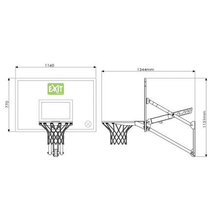 taille panneau basket