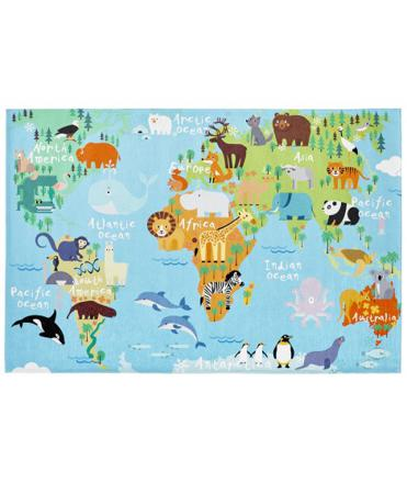 tapis carte du monde