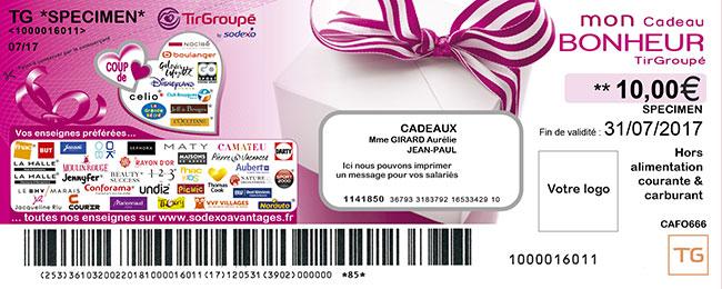 ticket bonheur tir groupe