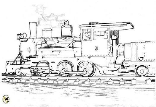 train a vapeur coloriage