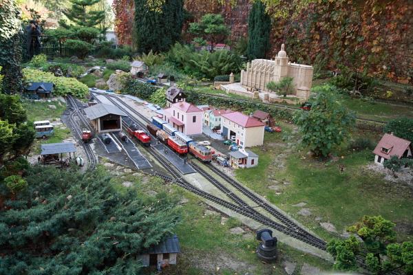 train miniature chatte