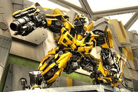 transformers voiture jaune