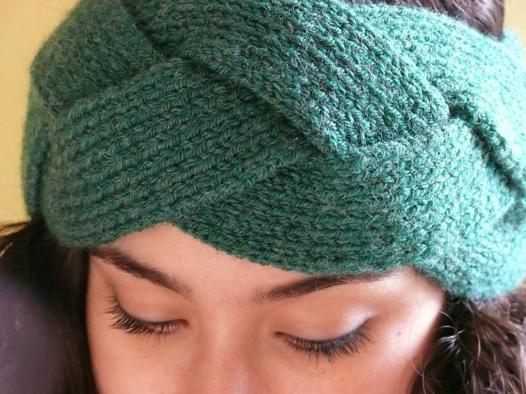 tricoter bandeau tressé