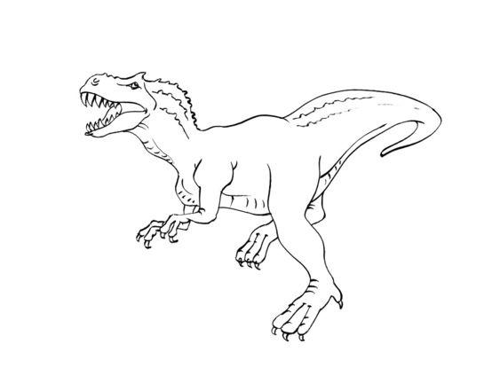 tyrannosaure coloriage