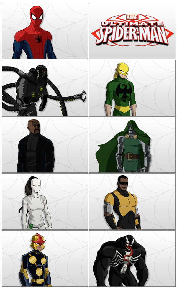 ultimate spider man personnages