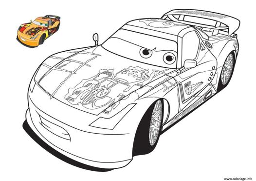 voiture cars coloriage