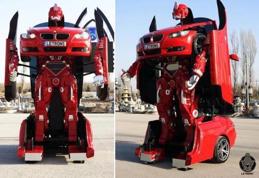 voiture qui se transforme en robot